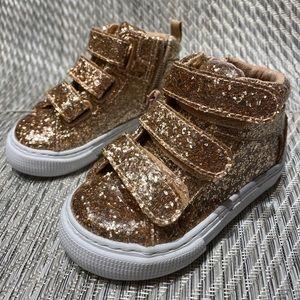 Gap Toddler Glitter Hi-Top Sneakers size5